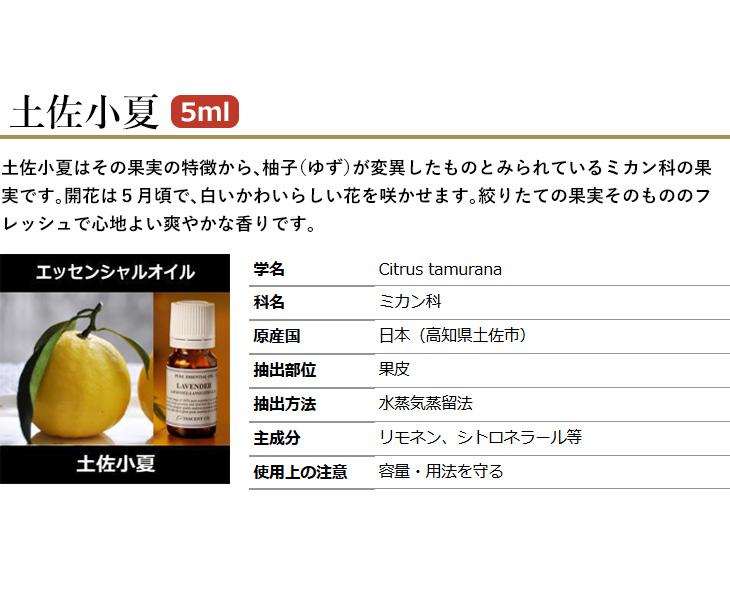 柑橘系オイル3本セット小夏